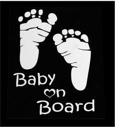 1pcs Car Stickers Cool Cute Baby on Board Car Styling Motorcycle Sticker Vinyl Decal Waterproof Footprint Car Accessory