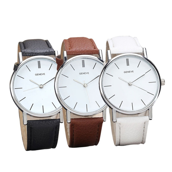 quartz, Waterproof, leather, quartz watch