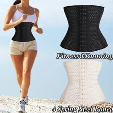Breathable Underbust  Body Shaper Lingerie Costume  Sport Compression Waist Training Shaperwear Corsets Black,S-3XL