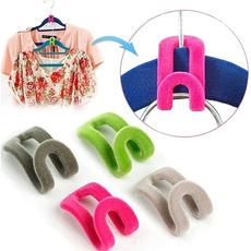 10pcs Novelty Anti-slip Mini Flocking Clothes Rack Hanger Hooks Holders Random Color