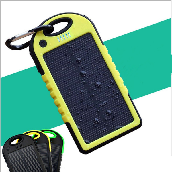 Picture of Us Stock Rondaful Drop Resistance Solar Power Bank 5000mah Travel Portable Charger Enternal Battery