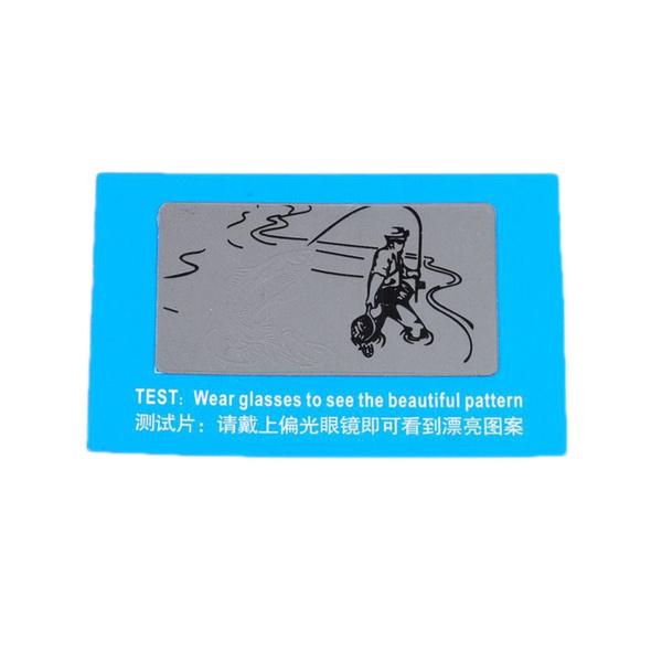 f09545ea1fbb Polarized Glasses Test Card Polarized Lens Testing Card Piece Sheet ...