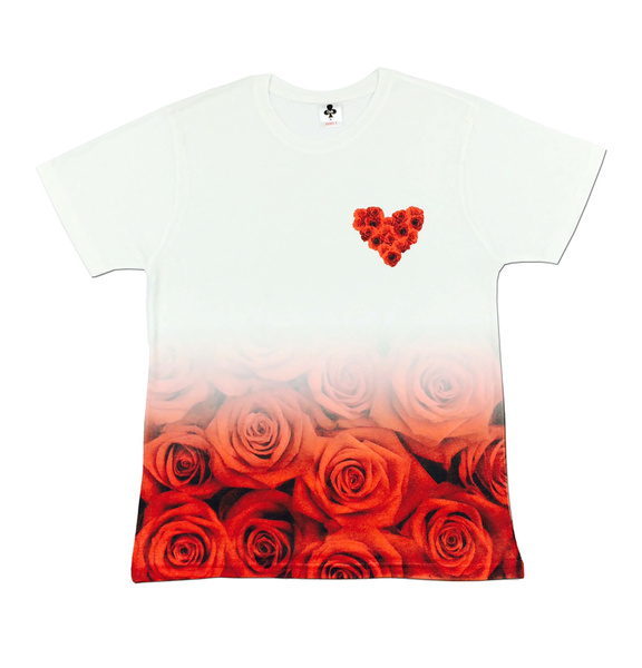Men's All Over Print Love Hearts Roses Floral Holiday Festival T Shirt