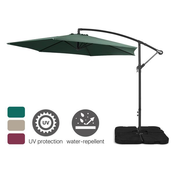 10ft Outdoor Patio Sun Shade Umbrella, 10 Ft Cantilever Patio Umbrella