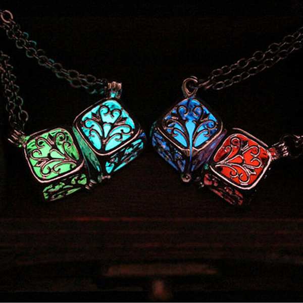 Steampunk Pretty Magic Round Fairy Locket Glow In The Dark Pendant Necklace Gift