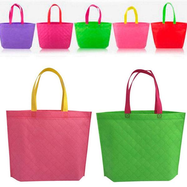 Picture of Women Girl's Fabric Shopping Shoulder Bags Handbag Beach Bag Market Tote