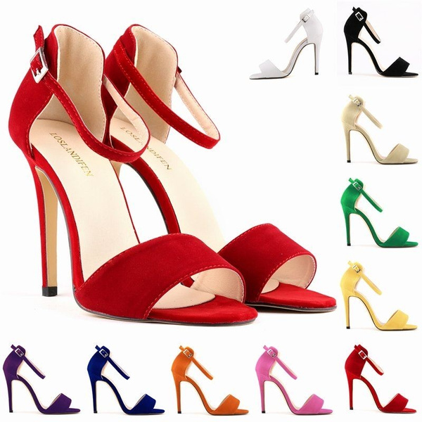 Picture of Lady Sexy Party Open Toe Bridal Flock High Heels Shoes Sandals Us Size 4-11