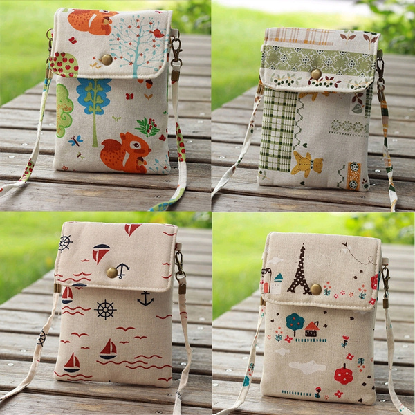 Picture of Cute Crtoon Canvas Kids Crossbody Bag Fashion Gilrs Coin Purse Phone Shoulder Bags