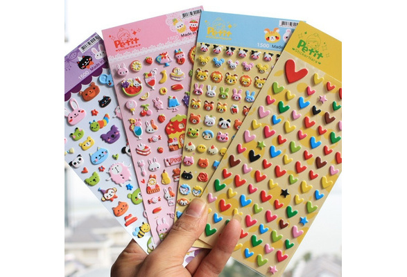 DIY Cute Lovely 3D Bubble Sponge Stickers Kawaii Cartoon Soft Animal Sticker Toys for kids Creative Gift