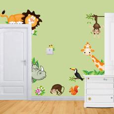 2017 Jungle Animal Kids Baby Nursery Child Home Decor Mural Wall Sticker Decal