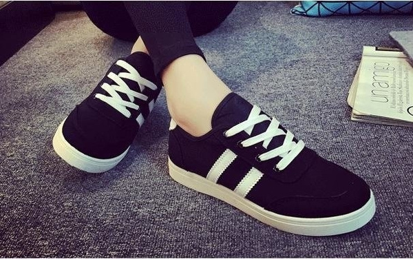 Picture of Canvas Womens Fashion Flat Athlete Casual Sneakers Trainers