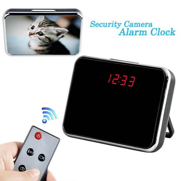 Picture of 5mp Hd Cam Alarm Clock Video Camera Dvr Dv Digital Recorder Motion Remote Sh Color Silver