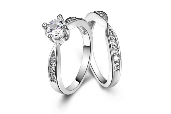 Picture of Bluness 1pc Rings For Women Men Stainless Steel Sterling Silver Diamond Fine Jewelry