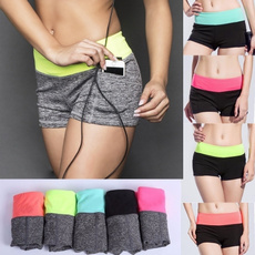Women's fashion fitness shorts Running Yoga Gym Fitness sport pants Spell color low-waist shorts Breathable quick-drying shorts 10 colors