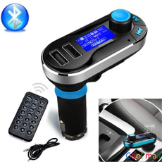 MP3 Play FM Transmitter Handsfree Car Charger Bluetooth AUX Audio Music Adapter