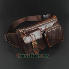 Moda, genuine leather bag., Hiking, Hombre