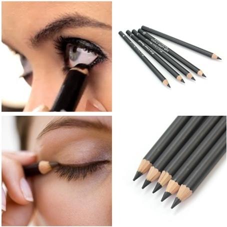 Picture of 5pcs Women Black Smooth Makeup Cosmetic Pen Eye Liner Eyeliner Pencil Waterproof