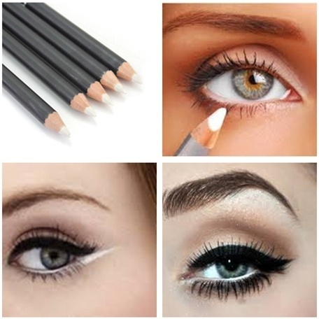 Picture of 5pcs Women Smooth Makeup Eye Liner Pencil White / Black