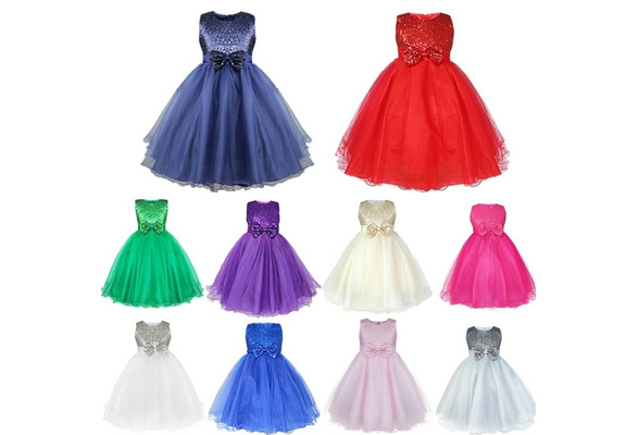 iEFiEL Fashion Kids Girl Wedding Bridesmaids Flower Tulle Girls Party Pageant Dress Gown