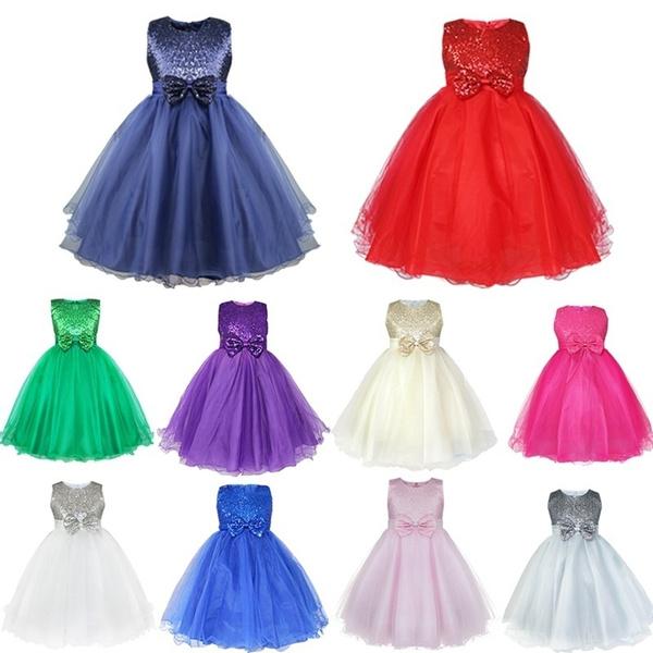 communiondresse, bowknot, girlsbridesmaiddres, Fashion