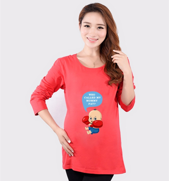 516620f72989f Maternity Clothes Summer Cotton Maternity Tops Funny Maternity ...