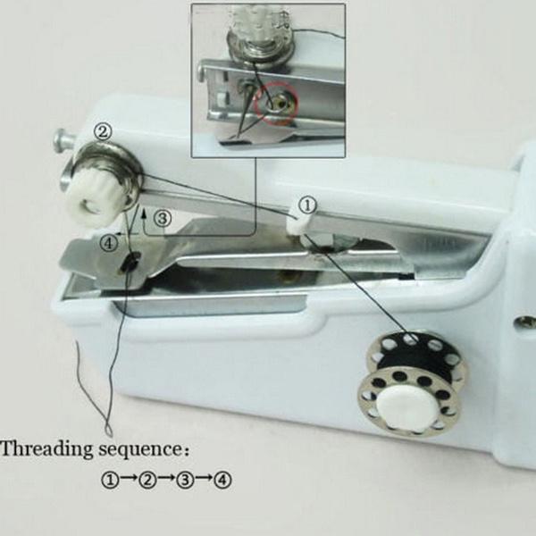 Wish New Portable Household Handy Stitch Electric Mini Handheld Delectable Portable Mini Electric Handheld Sewing Machine