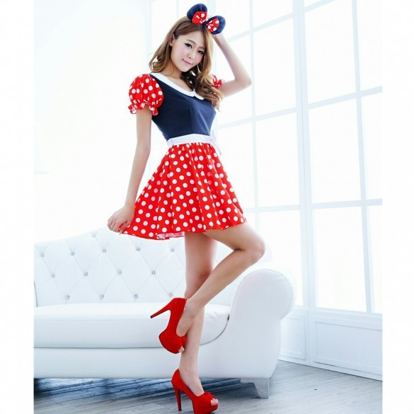 Wish | Sexy Lingerie Adult Women Milk Maid Minnie Mouse Mickey ...