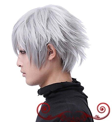 Wish Anime Tokyo Ghoul Anime Ken Kaneki Cosplay Wig Silver White Hair