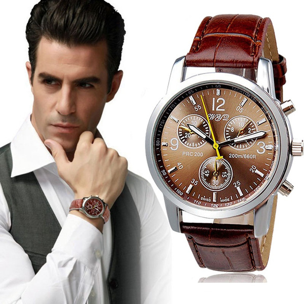 Picture of Luxury Fashion Crocodile Faux Leather Mens Analog Watch Watches