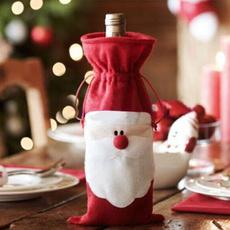 christmaswinegiftbag, decoration, party, christmaswinestopper