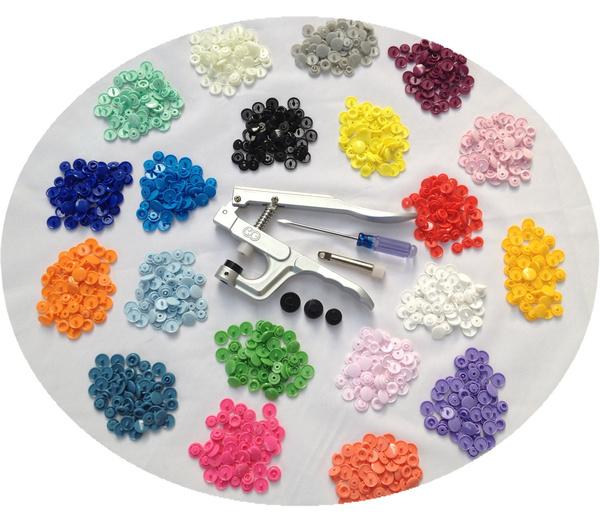 Fastener Snap Pliers KAM Button+300 set T5 Plastic Resin Press Stud Cloth Diaper