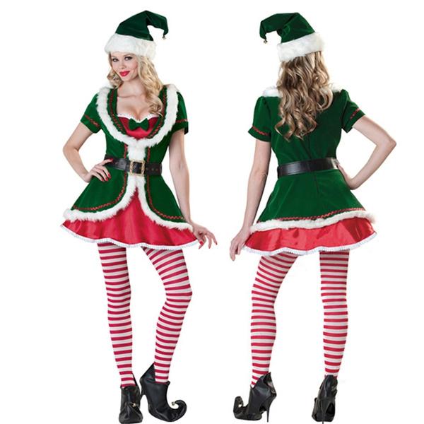Green Christmas Party Ds Singer Dance Christmas Elf Bar Nightclub Dance Costume
