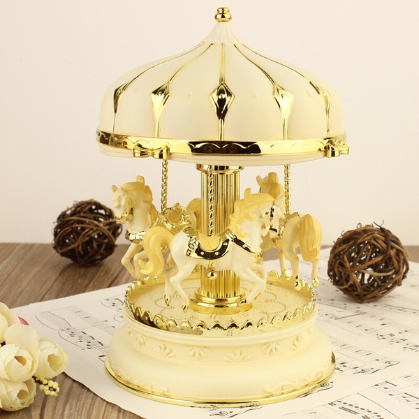 Picture of Happy Birthday Gift Merry-go-round Music Box With Lightsmulticolor