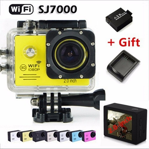 Picture of Sj7000 Wifi Action Camera 1080p Full Hd 2.0lcd Waterproof Sport Camera Diving 30m Mini Dv For Go Pro Style Video Camera Extra 1pcs Battery+battery Charger