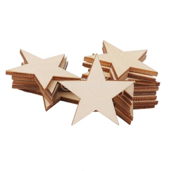 Multi-Purpose Craft Supplies, Star, Wooden, partydecor