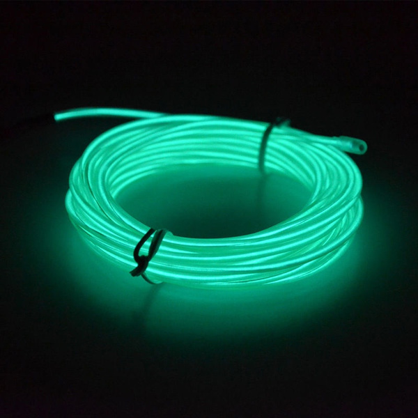 Wish | 1-5M 10 Colors Flexible EL Wire Neon Glow Light 12V ...