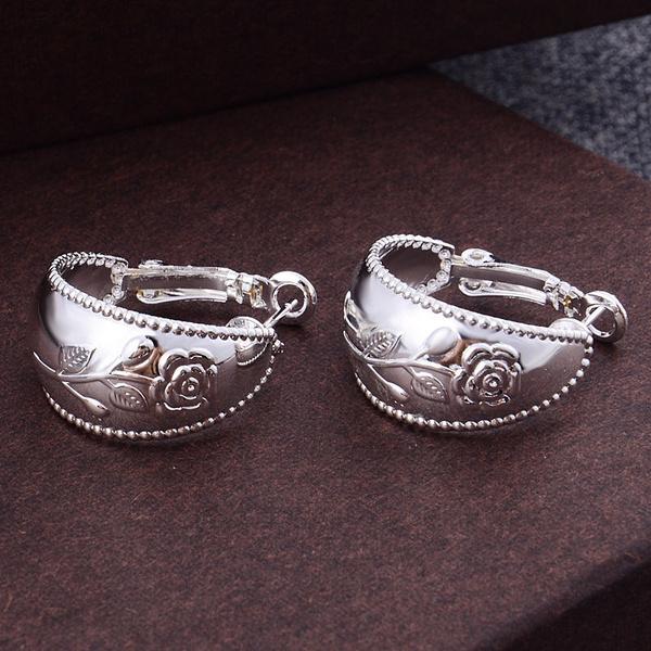Picture of New Fashion Elegant Women 925 Sterling Silver Jewelry Earrings