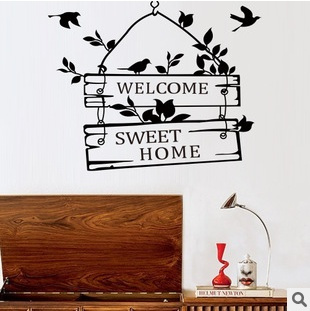 acc7db77fa creative welcome sweet home decoration wall decals decorative ...