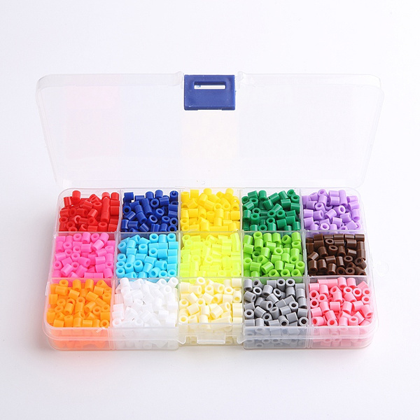 pearl 2050 perler beads pegboard hama beads 5mm 15 colors set fuse beads  jigsaw puzzle educational toys diy kids christmas gift