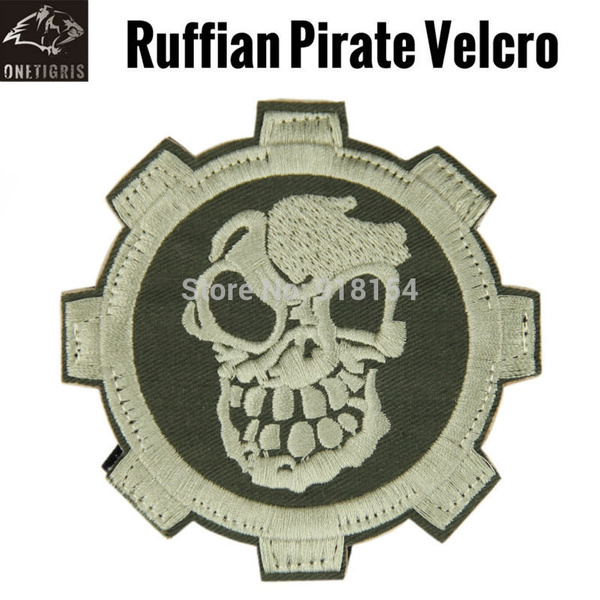 OneTigris Tactical Embroidery Ruffian Pirate Patches Velcro Morale Military  Patch Velcro Badges for Tactical Vest Hats Backpacks
