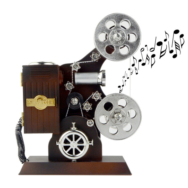 Picture of Dream Girls Mini Antique Vintage Hand Crank Grand Film Project Music Musical Box Jewellery Music Box Valentine's Gift