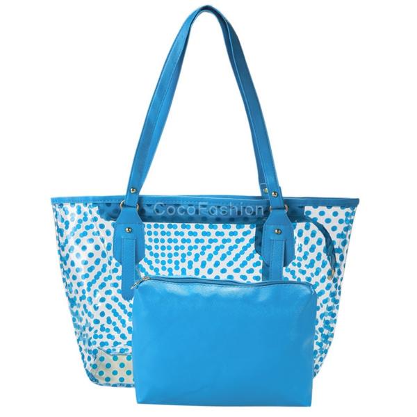 Picture of Women Clear Transparent Work Semi-clear Beach Shoulder Bag Handbag