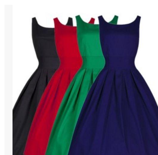 Women Party Robe Rockabilly 50s Vintage Vestidos Plus Size Dress