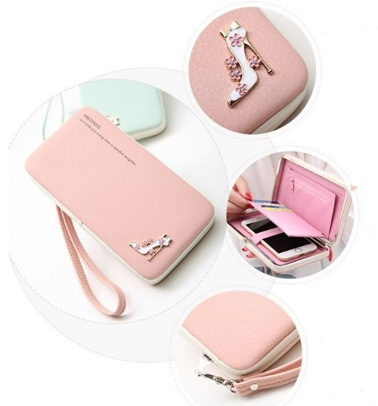 official photos dddbf ab104 New Fashion Korean Style Lovely Lady Wallets Women Long Wallets Purses  Women Clutch Bags Mobile Phone Case For iPhone 6 Plus Lady Cute Coin Purse