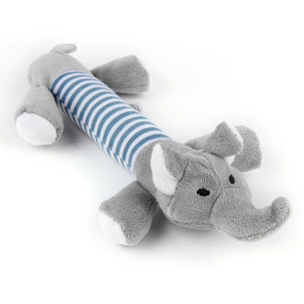 New Dog Toy Pet Puppy Plush Squeaker Squeaky Toys Pig Duck Elephant toys
