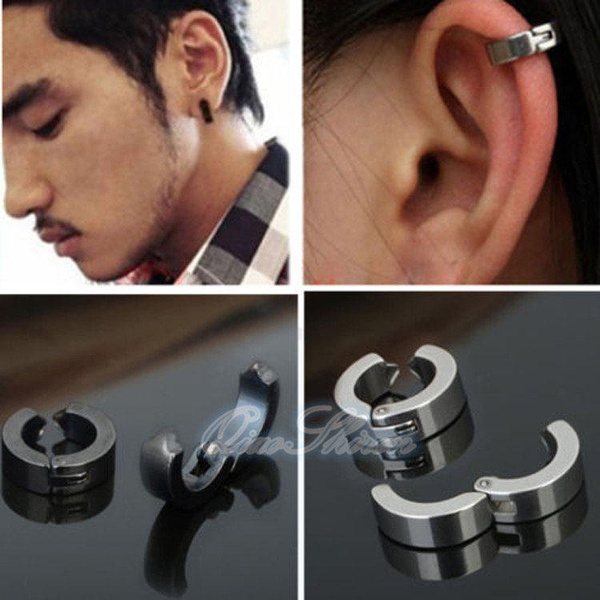 Steel, Jewelry, Clip, Stud Earring