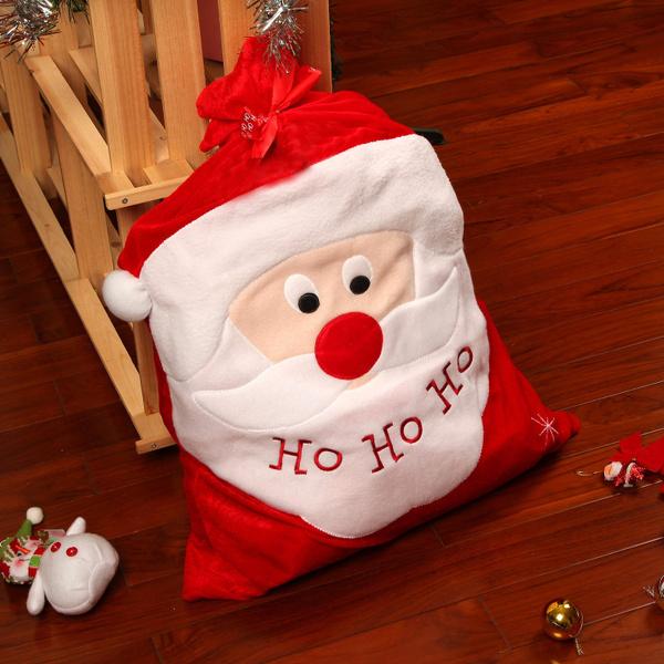 LARGE SANTA PRESENT SACK STOCKING CHRISTMAS XMAS  DECORATION HO HO