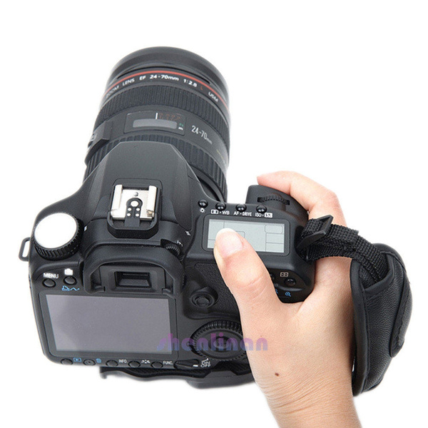 New PU Leather Camera Hand Wrist Grip Strap For SLR DSLR CamerasWR