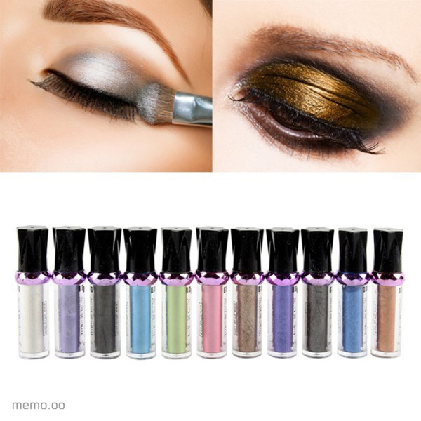 Picture of Single Roller Color Eyeshadow Glitter Pigment Loose Powder Eye Shadow Makeup