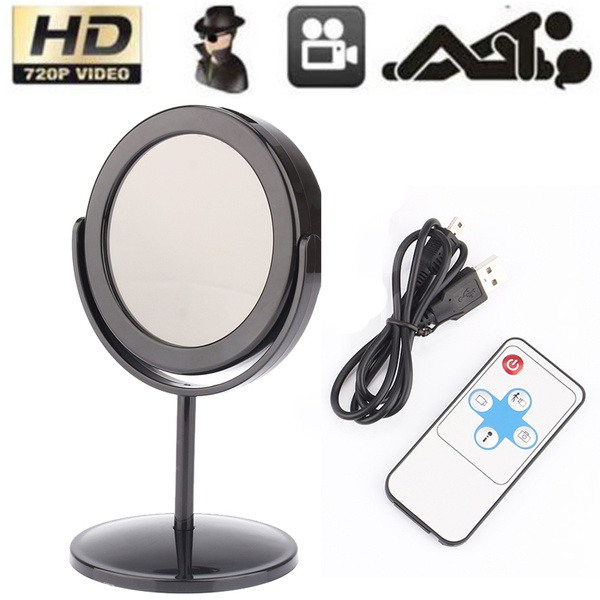 Picture of Mirror Spy Hidden Camera Video Recorder Motion Hd Mini Dv Dvr + Remote Diameter Approx.80mm Color Black